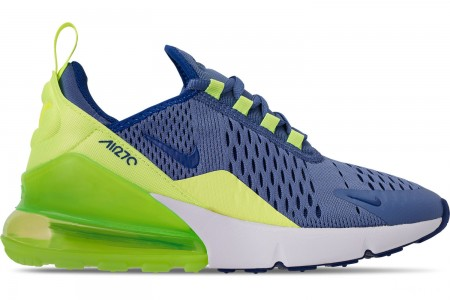 Nike Big Kids' Air Max 270 Casual Shoes - Indigo Storm/Indigo Force/Lime Blast
