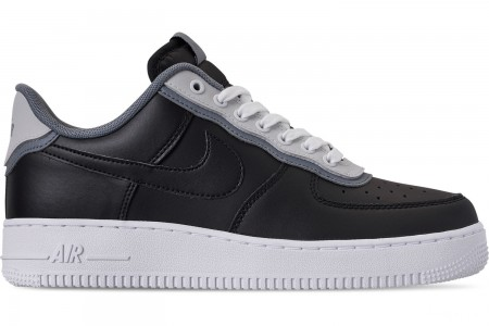 Nike Men's Air Force 1 '07 LV8 1 Casual Shoes - Black/Black/Pure Platinum/Cool Grey