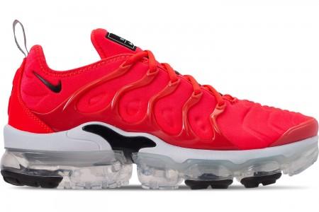 Nike Men's Air VaporMax Plus Running Shoes - Bright Crimson/Black/White