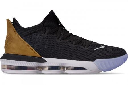 Nike Men's LeBron 16 Low Basketball Shoes - Black/Multi-Color/White/Wheat