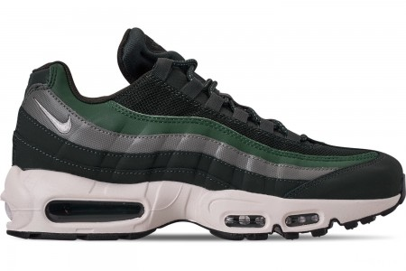 Nike Men's Air Max 95 Essential Casual Shoes - Outdoor Green/Sail/Fir/Vintage Lich