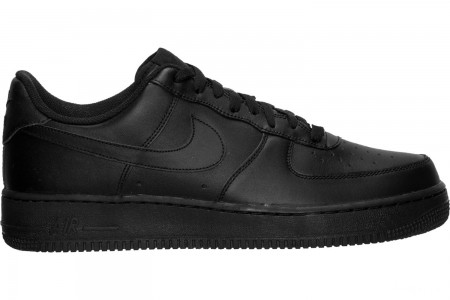 Nike Men's Air Force 1 Low Casual Shoes - Black/Black