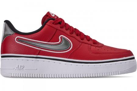 Nike Boys' Big Kids' Air Force 1 '07 LV8 Sport Casual Shoes - Varsity Red/Black/White