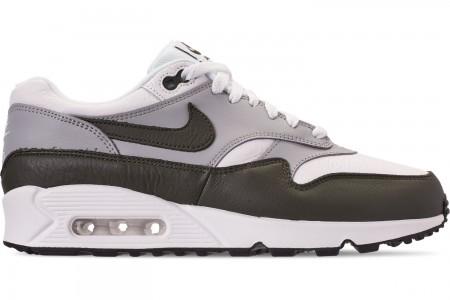 Nike Men's Air Max 90/1 Casual Shoes - White/Cargo Khaki/Black