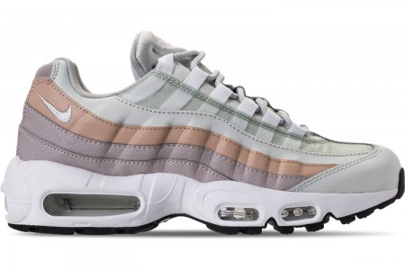 Nike Women's Air Max 95 Casual Shoes - Light Silver/White/Moon Particle