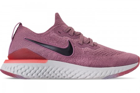 Nike Women's Epic React Flyknit 2 Running Shoes - Plum Dust/Ember Glow