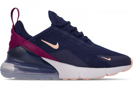 Nike Women's Air Max 270 Casual Shoes - Blue Void/Crimson Tint/True Berry