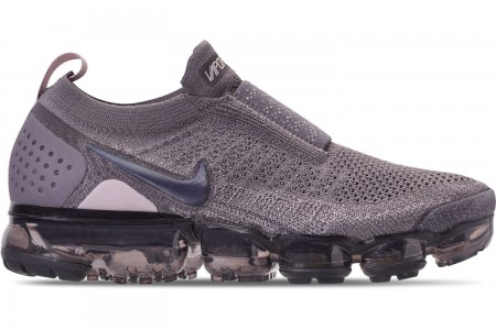 Nike Women's Air VaporMax Flyknit MOC 2 Running Shoes - Gunsmoke/Blackened Blue/Thunder Grey