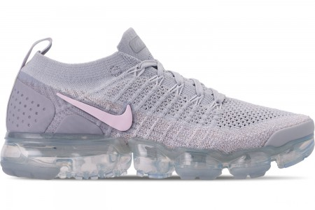 Nike Women's Air VaporMax Flyknit 2 Running Shoes - Pure Platinum/Arctic Pink/White