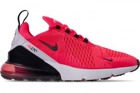 Nike Men's Air Max 270 Casual Shoes - Red Orbit/Black/Vast Grey