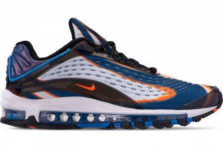 Nike Men's Air Max Deluxe Casual Shoes - Cool Grey/Total Orange/Blue Force