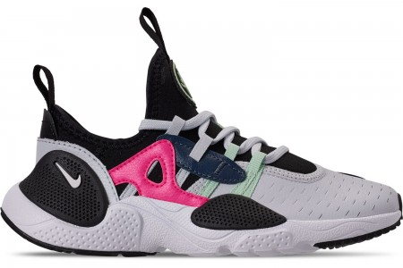 Nike Girls' Little Kids' Nike Huarache E.D.G.E Casual Shoes - Pure Platinum/White/Black/Hyper Pink