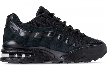 Nike Boys' Big Kids' Air Max 95 Casual Shoes - Black/Black/Black