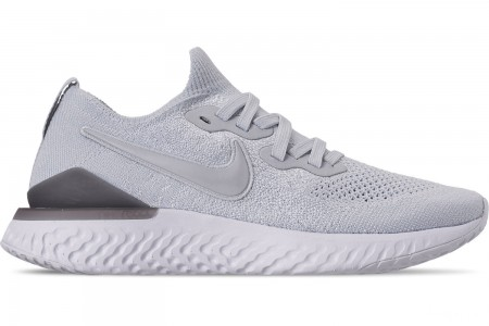 Nike Women's Epic React Flyknit 2 Running Shoes - Pure Platinum/Wolf Grey