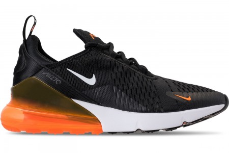 Nike Men's Air Max 270 Casual Shoes - Black/White/Total Orange