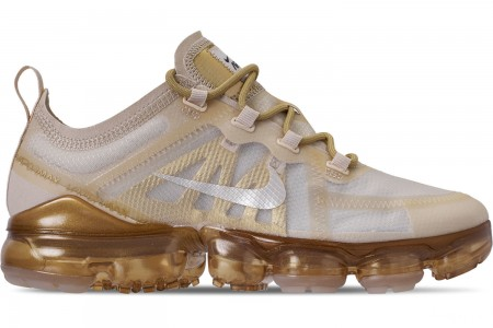 Nike Women's Air VaporMax 2019 Running Shoes - Cream/Sail/Light Bone