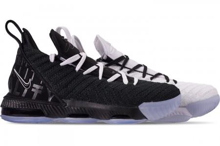 Nike Boys' Big Kids' LeBron 16 Basketball Shoes - White/Black