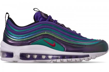 Nike Girls' Big Kids' Air Max 97 SE Casual Shoes - Court Purple/Rush Pink/Neptune Blue
