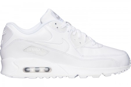 Nike Men's Air Max 90 Leather Casual Shoes - White