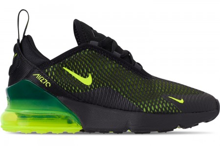 Nike Little Kids' Air Max 270 Casual Shoes - Black/Volt/Black/Oil Grey