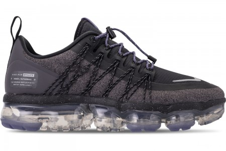 Nike Women's Air VaporMax Run Utility Running Shoes - Black/Reflect Silver/Thunder Grey