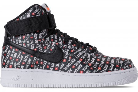 Nike Women's Air Force 1 High LX Casual Shoes - Black/Black/White/Total Orange