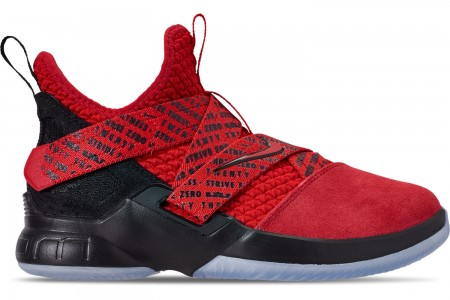 Nike Boys' Big Kids' LeBron Soldier 12 Basketball Shoes - Red/Black