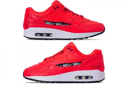 Nike Women's Air Max 1 SE Running Shoes - Bright Crimson/Black/White