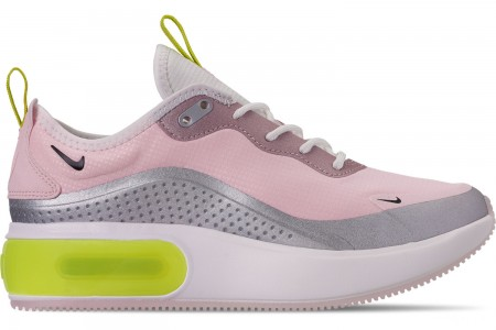 Nike Women's Air Max DIA E Casual Shoes - Pink Foam/Black/Metallic Silver