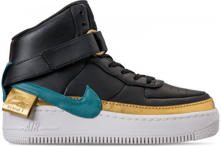 Nike Women's AF1 Jester High XX Casual Shoes - Black/Blustery/Dusty Peach/Metallic