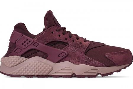 Nike Women's Nike Air Huarache Run BL Casual Shoes - Burgundy Crush/Burgundy Crush/Diffused