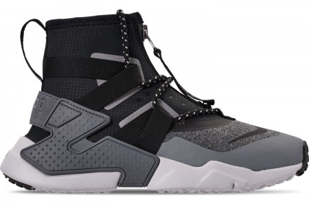 Nike Boys' Big Kids' Nike Air Huarache Gripp Shield Casual Shoes - Atmosphere Grey/Black/Vast Grey