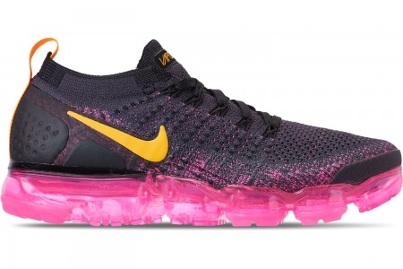 Nike Women's Air VaporMax Flyknit 2 Running Shoes - Gridiron/Laser Orange/Pink Blast/Black