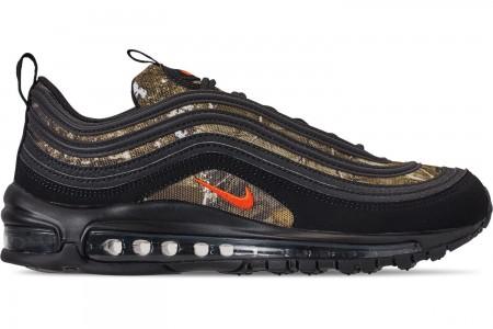 Nike Men's Air Max 97 Realtree Casual Shoes - Black/Team Orange/Black