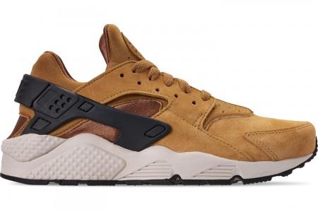Nike Men's Nike Air Huarache Run Premium Casual Shoes - Wheat/Black/Light Bone/Ale Brown