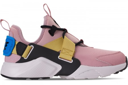 Nike Women's Nike Air Huarache City Low Casual Shoes - Plum Chalk/Black/Summit White/Celery