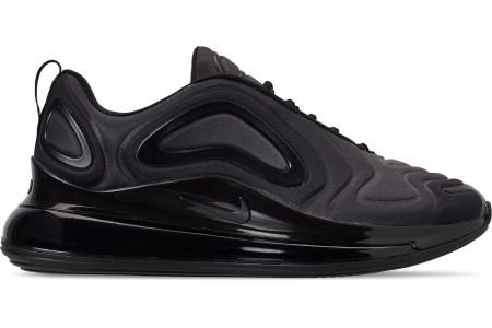 Nike Big Kids' Air Max 720 Running Shoes - Black/Black/Anthracite