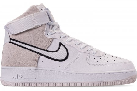 Nike Men's Air Force 1 High '07 LV8 1 Casual Shoes - White/Vast Grey/Black
