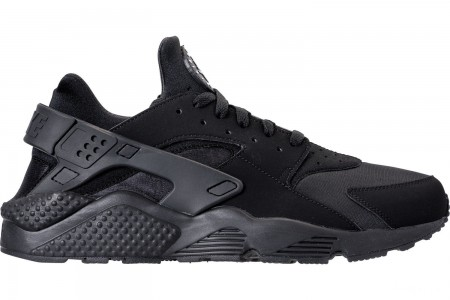 Nike Men's Nike Air Huarache Run Casual Shoes - Black/Black/White