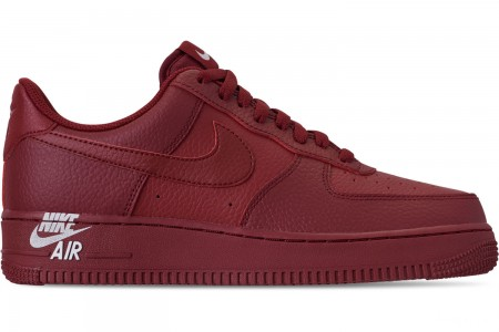 Nike Men's Air Force 1 '07 Leather Casual Shoes - Team Red/White
