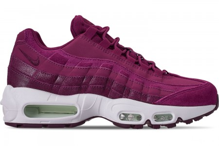 Nike Women's Air Max 95 Premium Casual Shoes - True Berry/Bordeaux/Summit White