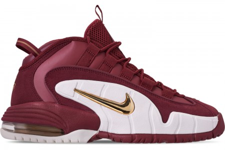 Nike Men's Air Max Penny Basketball Shoes - Team Red/Metallic Gold/Summit White