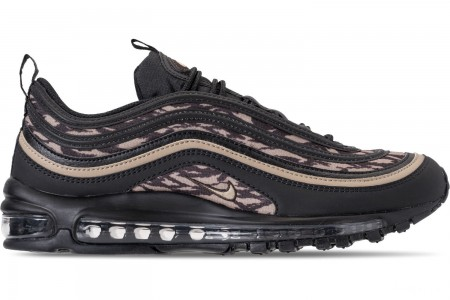 Nike Men's Air Max 97 Casual Running Shoes - Black/Khaki/Velvet Brown