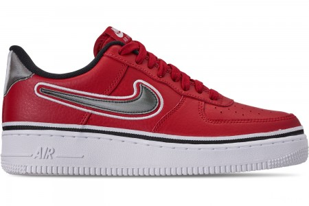 Nike Men's Air Force 1 '07 LV8 Sport Casual Shoes - Varsity Red/Black/White