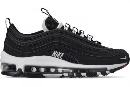 Nike Boys' Big Kids' Air Max 97 SE Casual Shoes - Black/White/Varsity Red