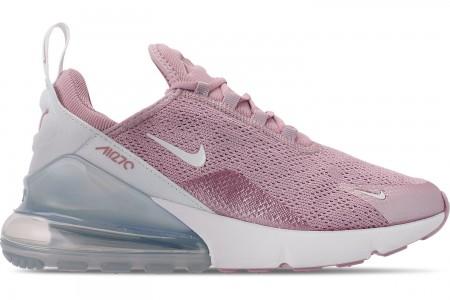 Nike Women's Air Max 270 Casual Shoes - Plum Chalk/Summit White/Metallic Silver