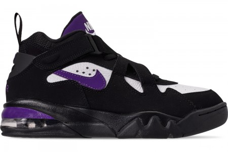 Nike Men's Air Force Max CB Basketball Shoes - Black/Court Purple/White/Total Orange