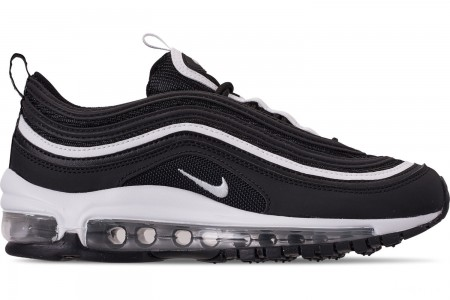 Nike Big Kids' Air Max 97 Casual Shoes - Black/White/Metallic Silver