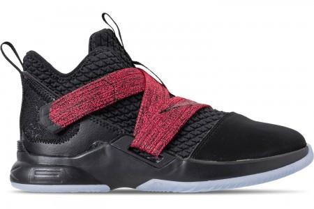 Nike Boys' Little Kids' LeBron Soldier 12 Basketball Shoes - Black/Black