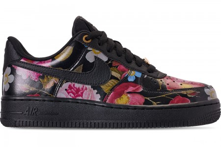 Nike Women's Air Force 1 '07 LXX Casual Shoes - Black/Black/Metallic Gold